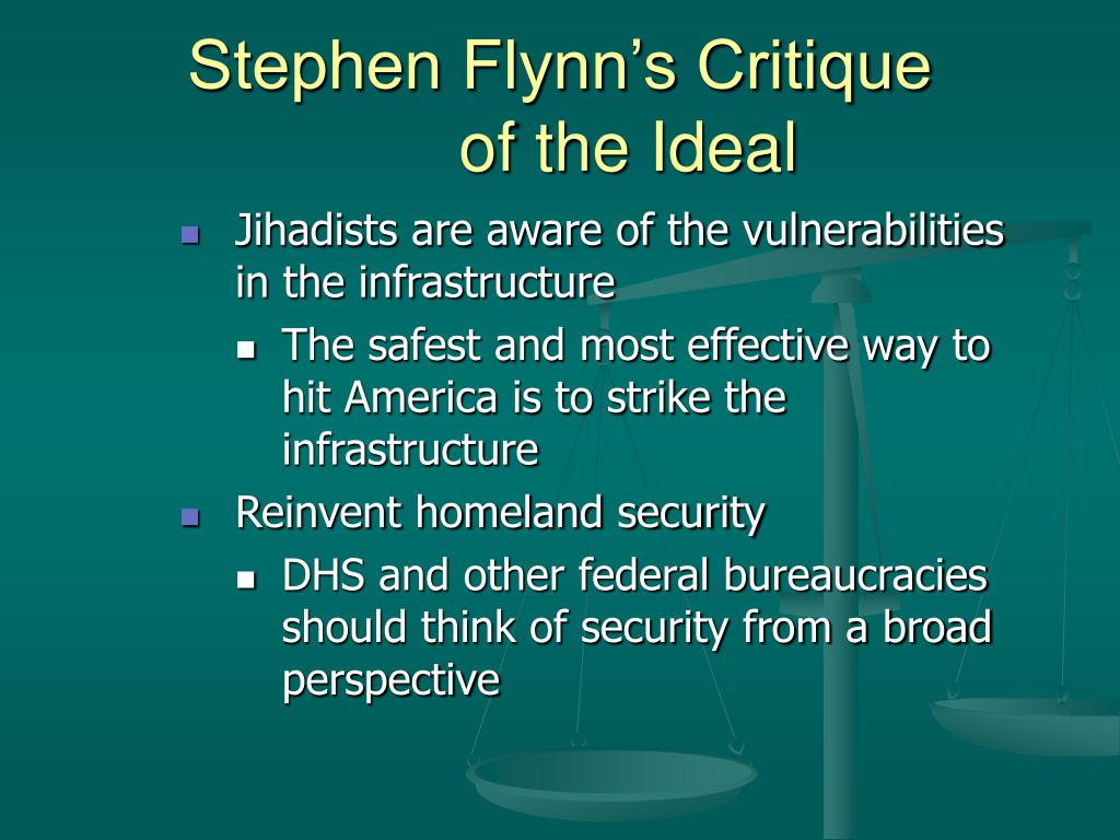 Stephen Flynn's Critique