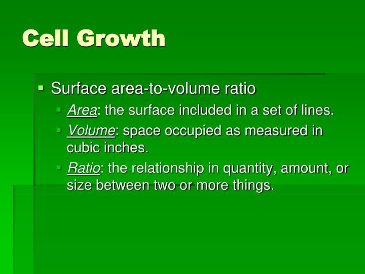 Cell growth3