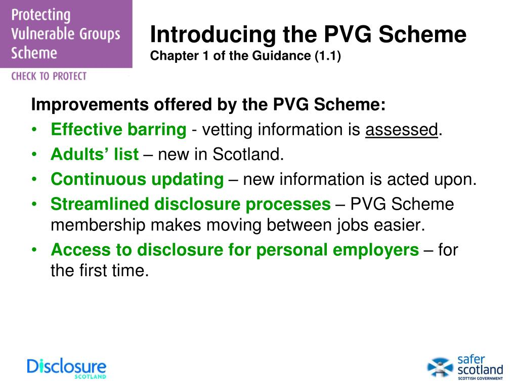 Introducing the PVG Scheme