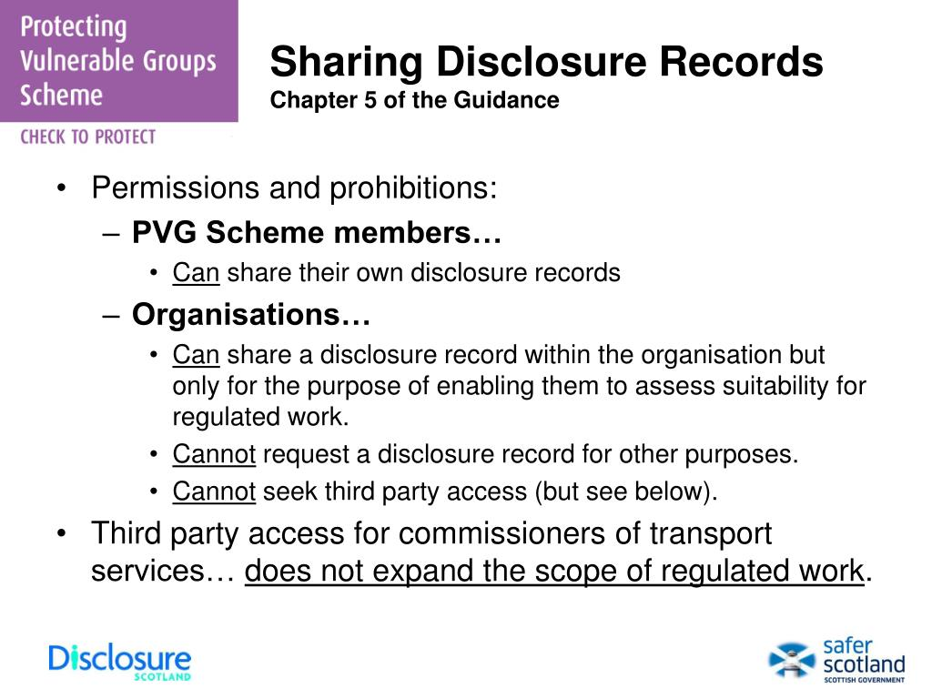Sharing Disclosure Records