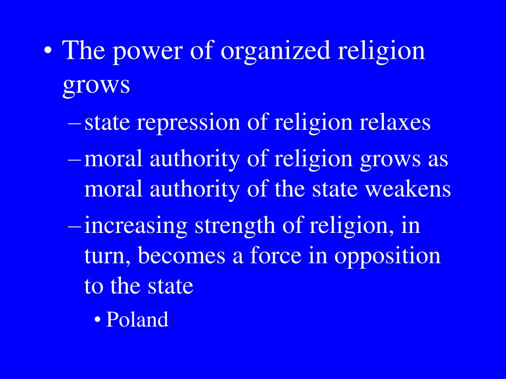 The power of organized religion grows