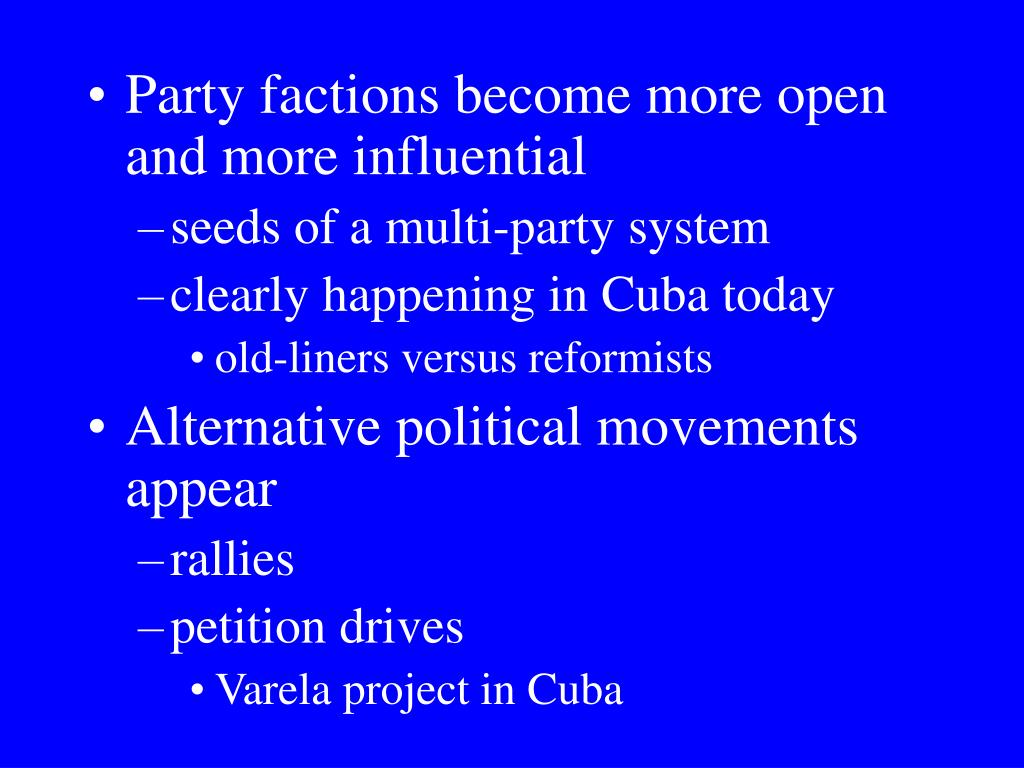 Party factions become more open and more influential