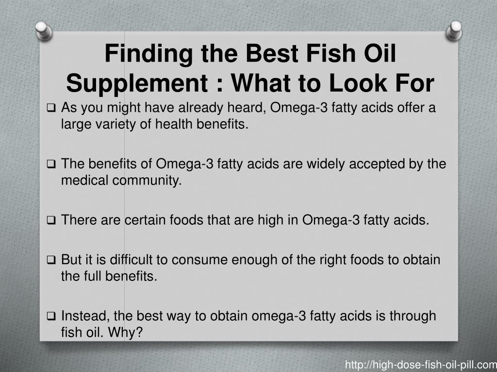 Finding the Best Fish Oil