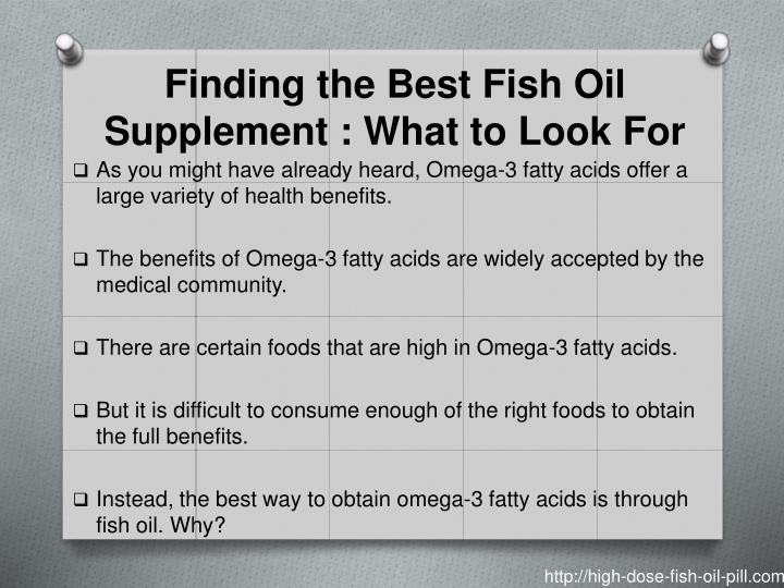 Finding the best fish oil supplement what to look for
