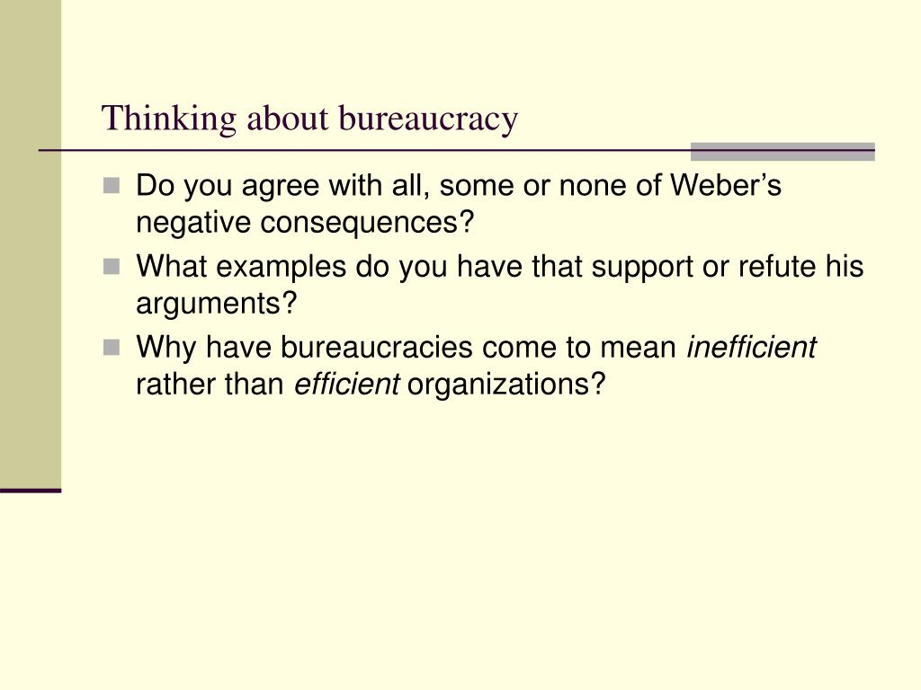 Thinking about bureaucracy