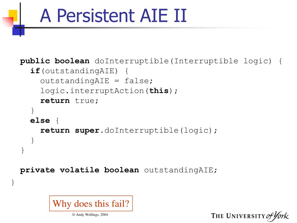 A Persistent AIE II