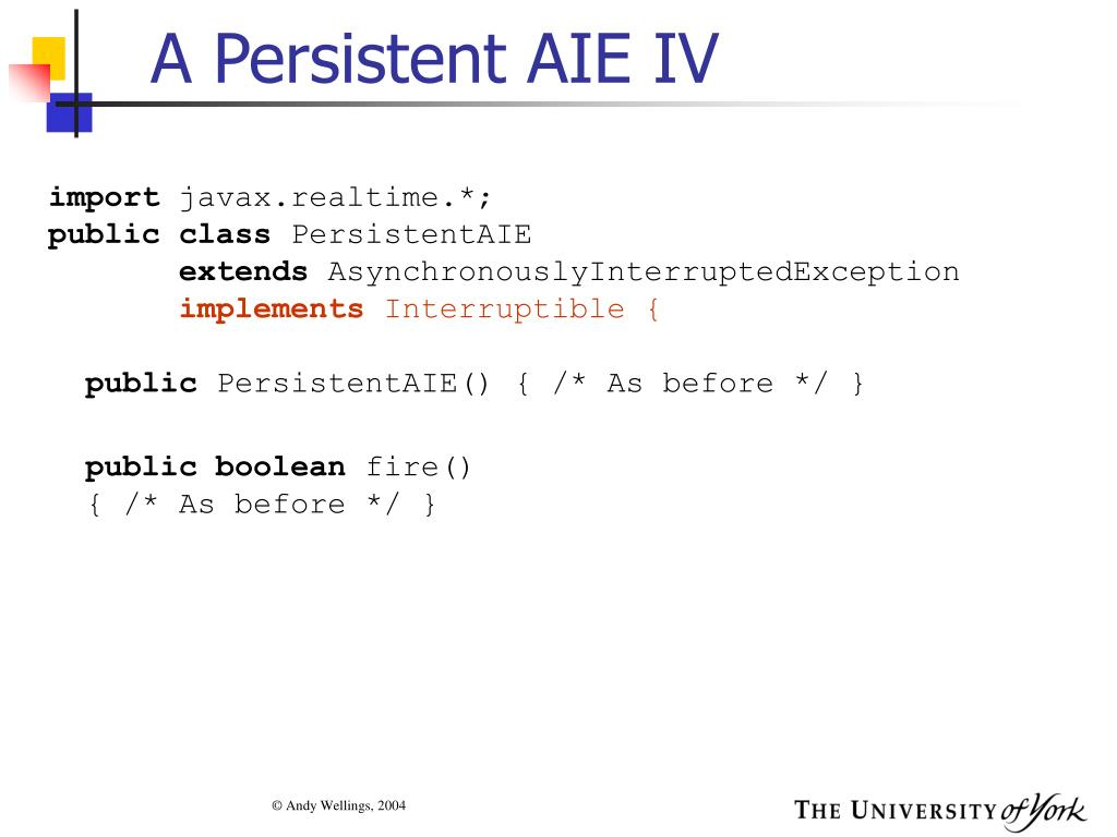 A Persistent AIE IV