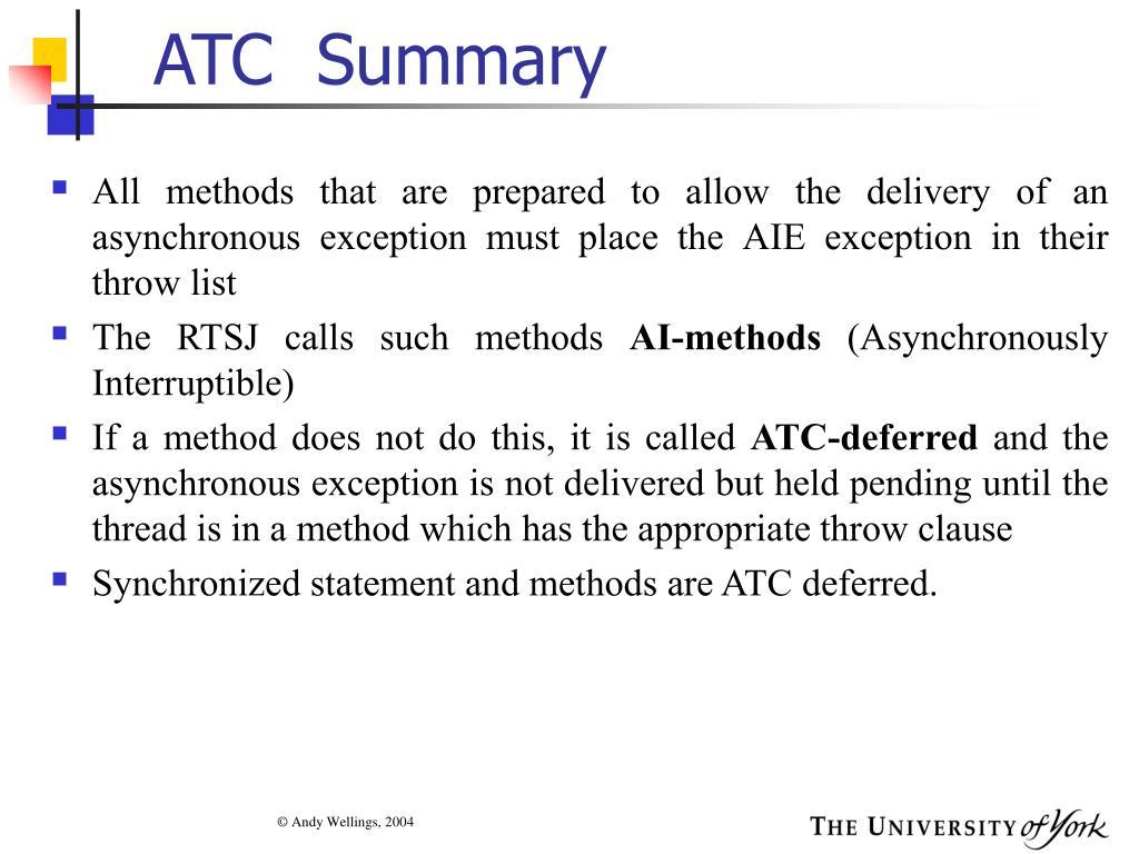 ATC  Summary