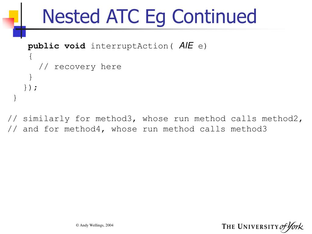 Nested ATC Eg Continued