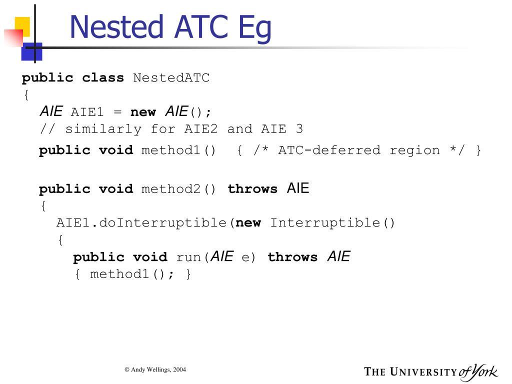 Nested ATC Eg