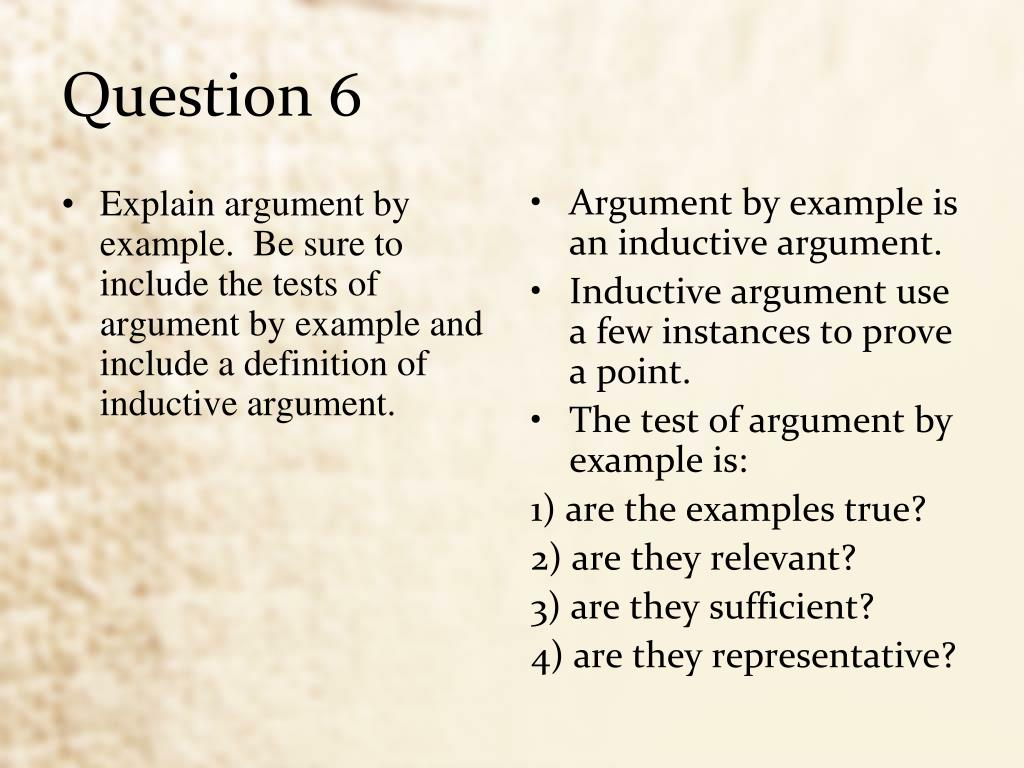 inductive argument Deductive arguments 1 deductive versus inductive reasoning govier has pointed out that there are four basic types of argument: deductive, inductive.