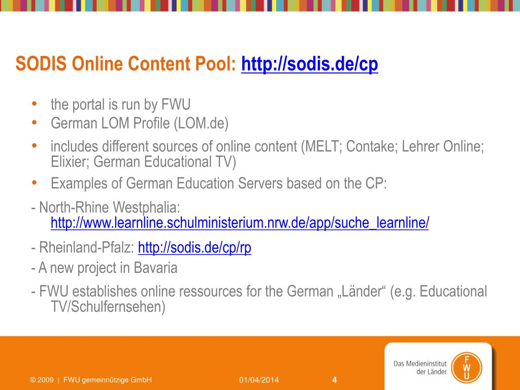 SODIS Online Content Pool: