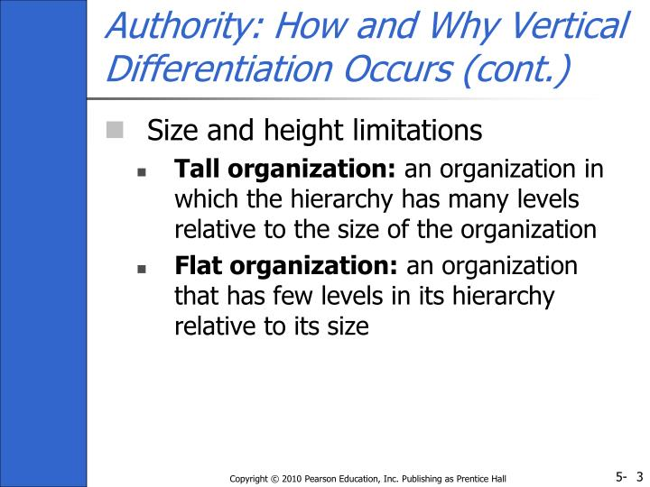 Authority how and why vertical differentiation occurs cont