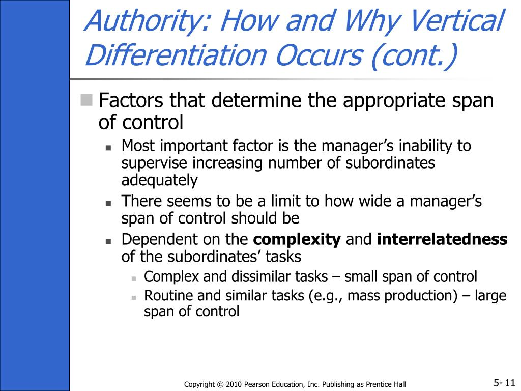 Authority: How and Why Vertical Differentiation Occurs (cont.)
