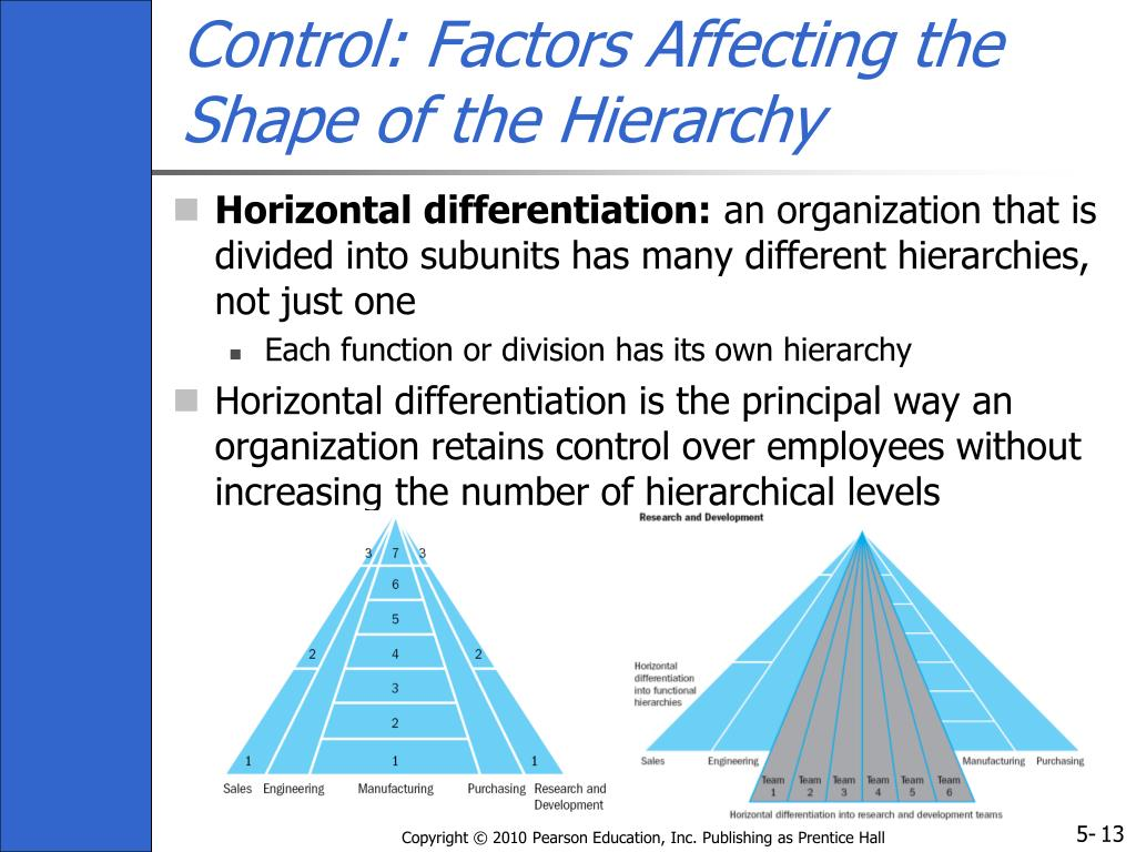Control: Factors Affecting the Shape of the Hierarchy