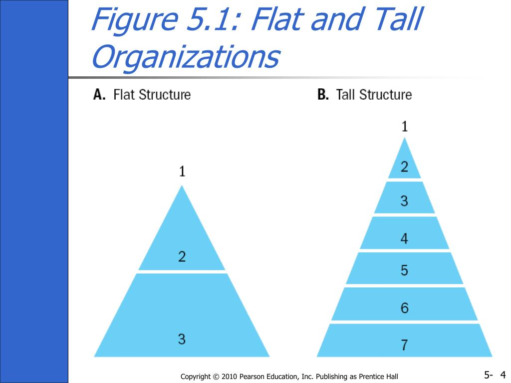 Figure 5.1: Flat and Tall Organizations