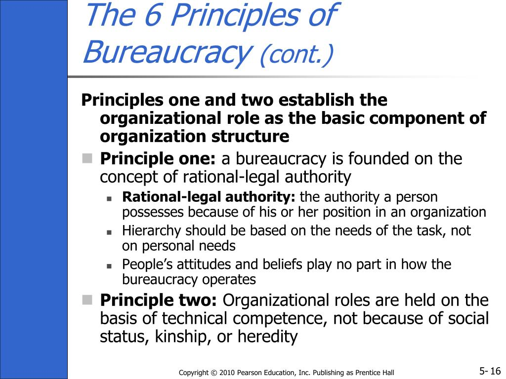 The 6 Principles of Bureaucracy