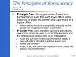 the principles of bureaucracy cont18