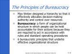 the principles of bureaucracy