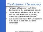 the problems of bureaucracy