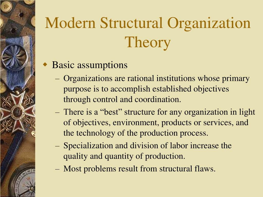 Modern Structural Organization Theory