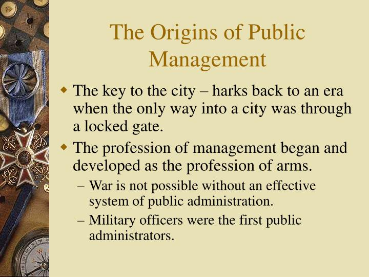 The origins of public management l.jpg