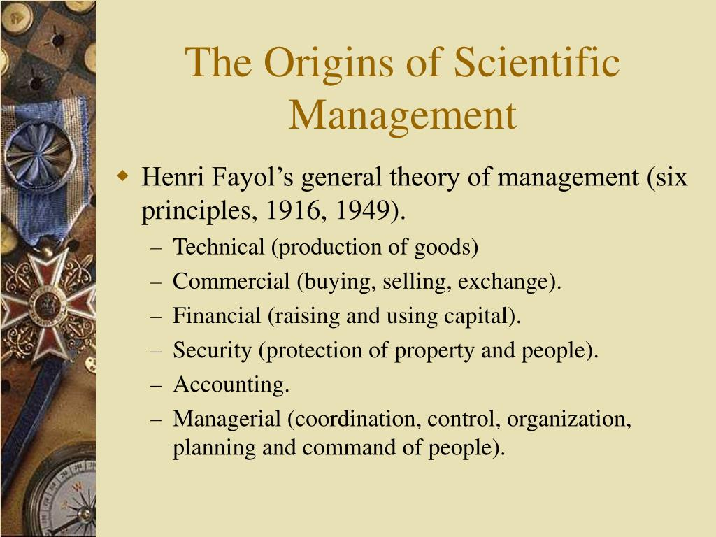 The Origins of Scientific Management