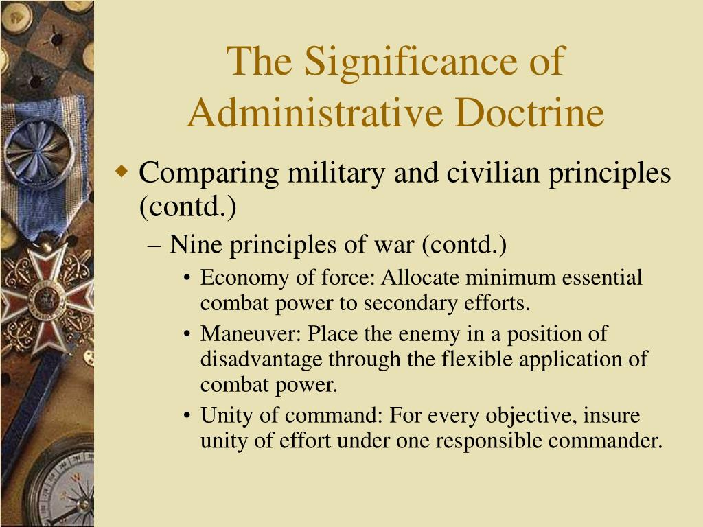 The Significance of Administrative Doctrine