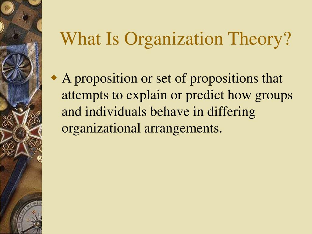 What Is Organization Theory?