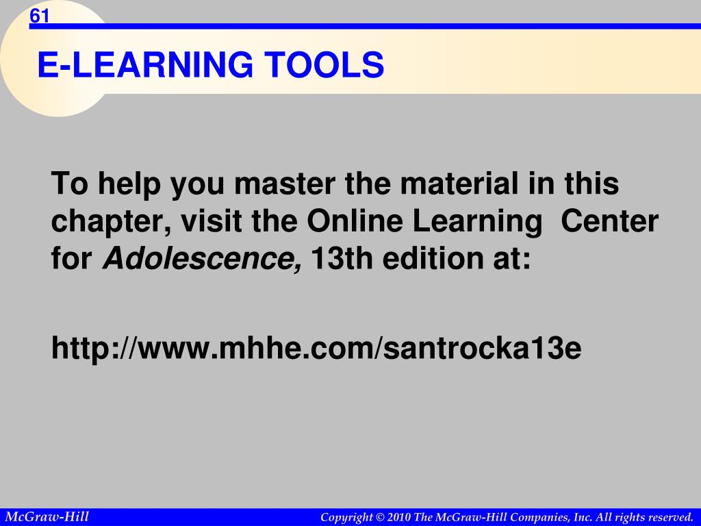 E-LEARNING TOOLS