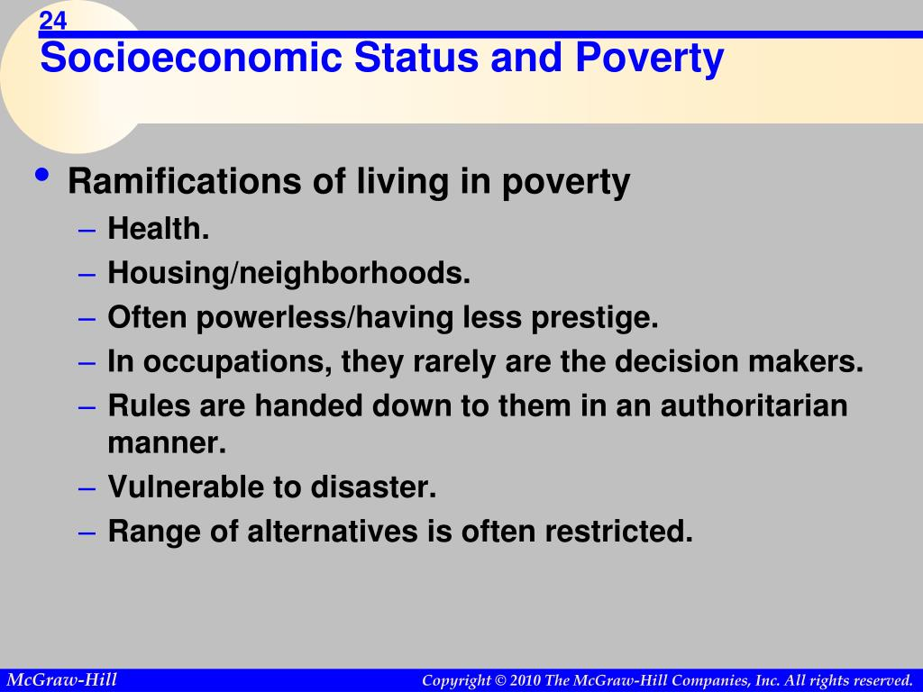 Socioeconomic Status and Poverty