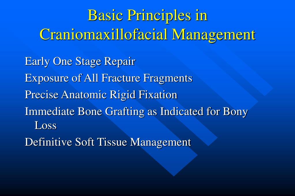 Basic Principles in Craniomaxillofacial Management
