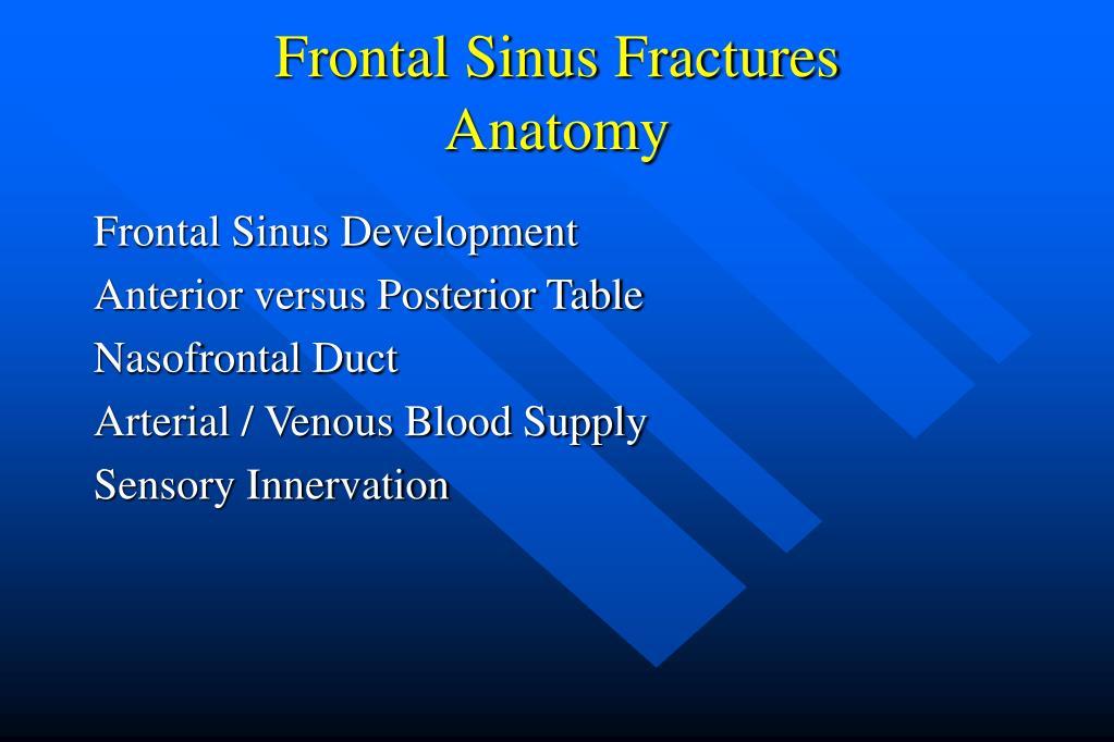 Frontal Sinus Fractures