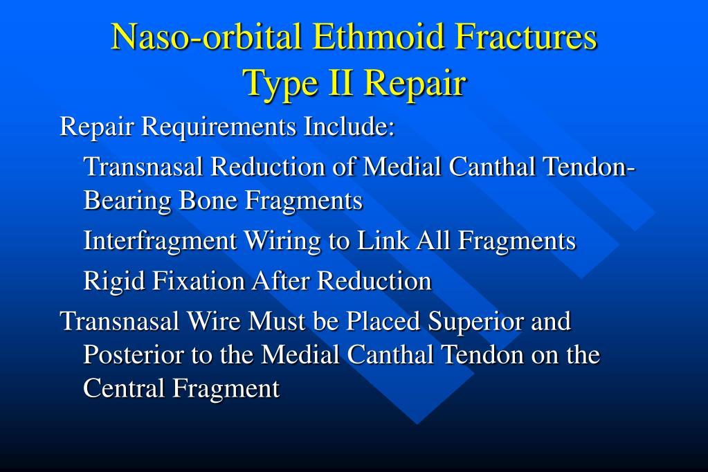 Naso-orbital Ethmoid Fractures