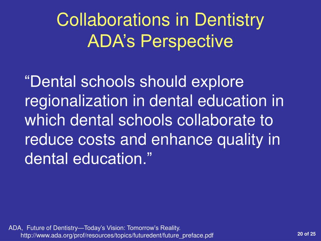Collaborations in Dentistry
