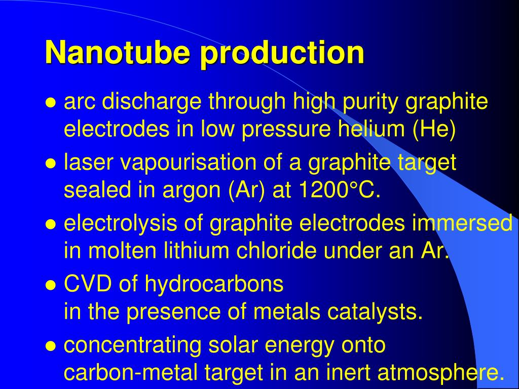 Nanotube production