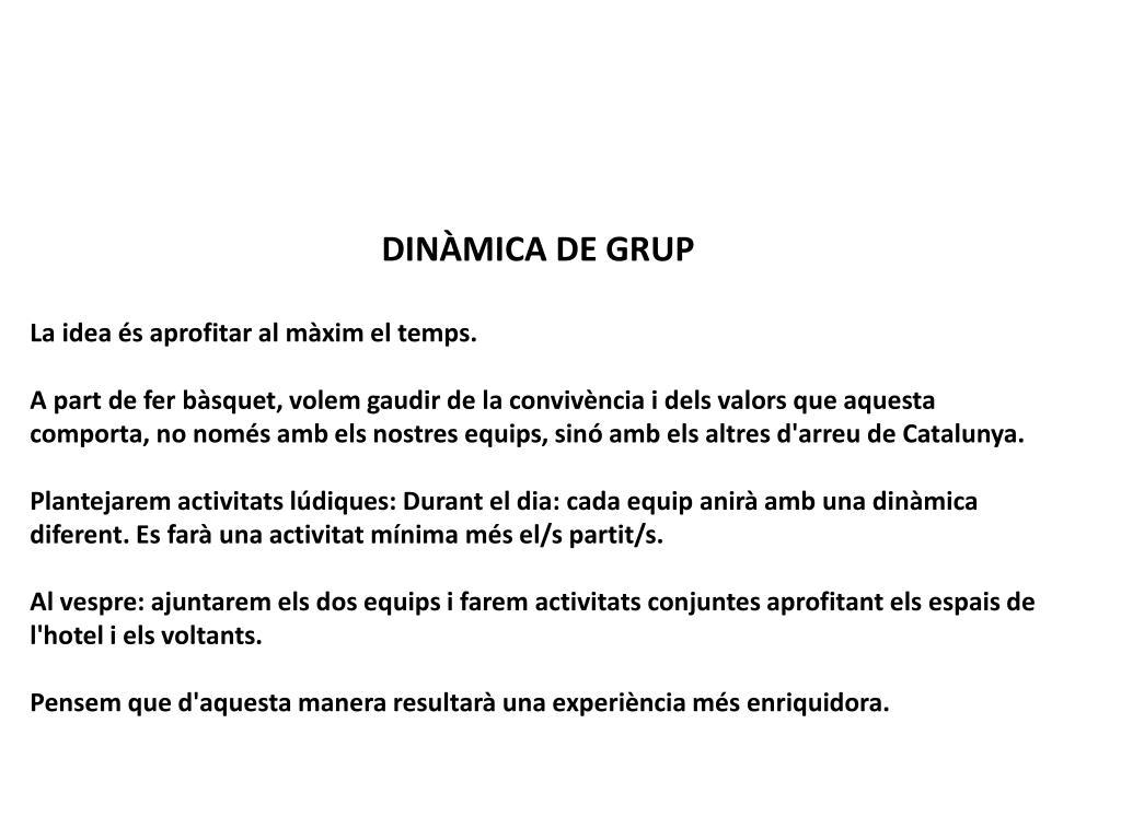 DINÀMICA DE GRUP