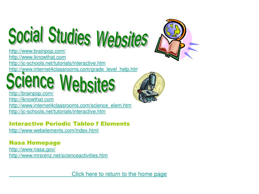 Social Studies Websites