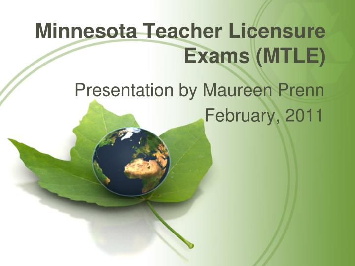 Minnesota teacher licensure exams mtle