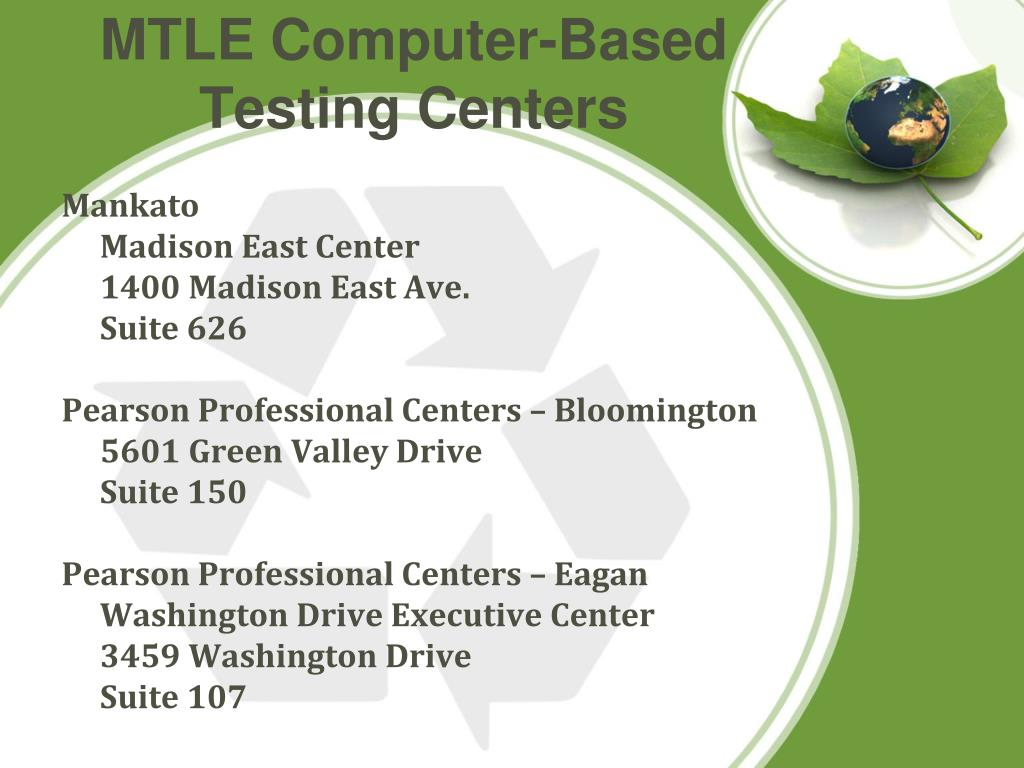 MTLE Computer-Based Testing Centers