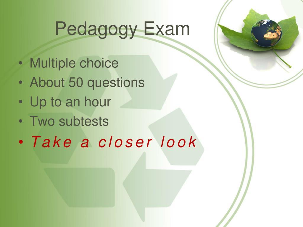 Pedagogy Exam