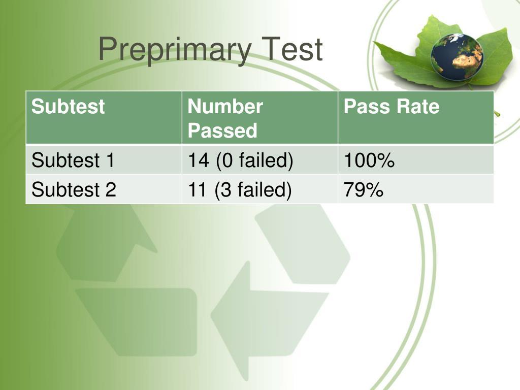 Preprimary Test