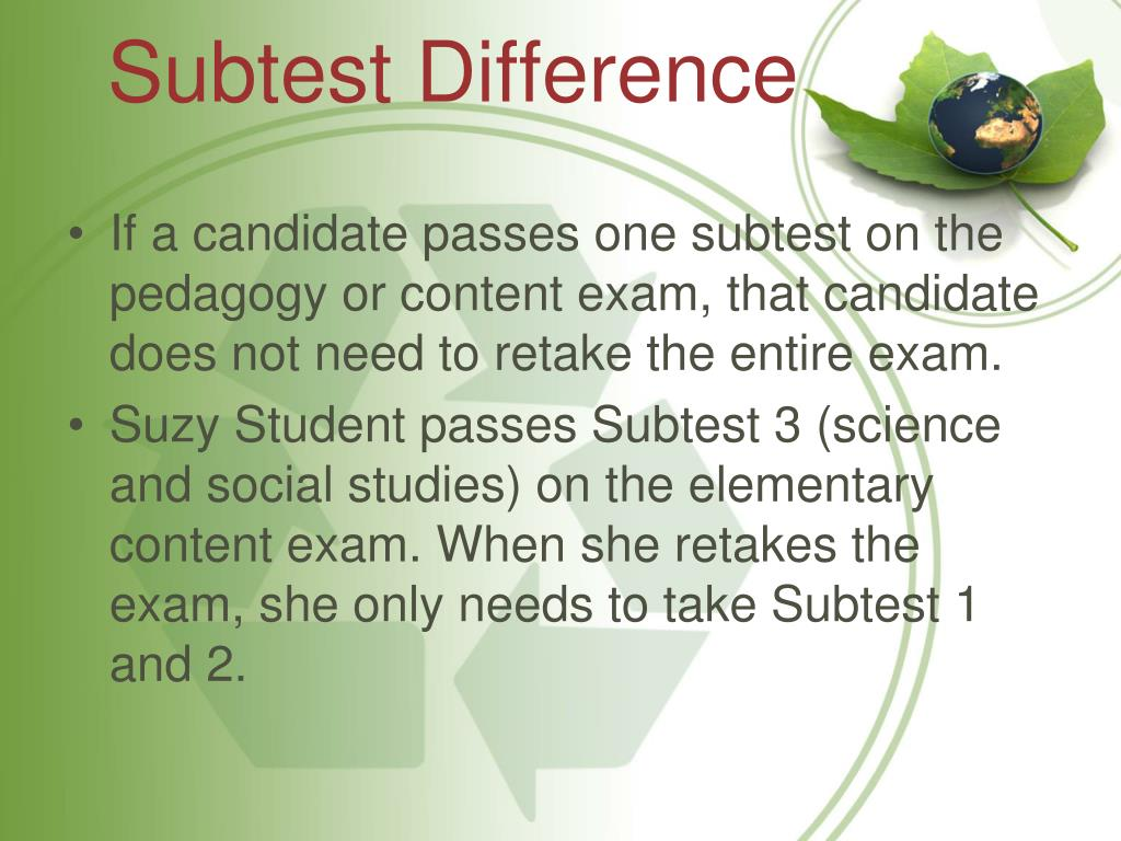 Subtest Difference