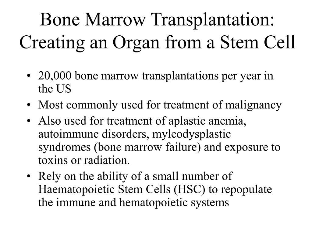 Bone Marrow Transplantation: