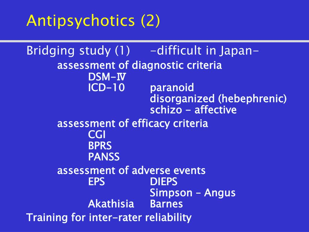 Antipsychotics (2)