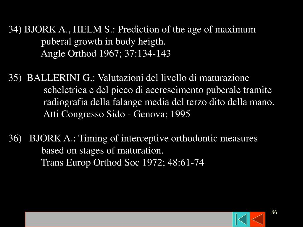 34) BJORK A., HELM S.: Prediction of the age of maximum