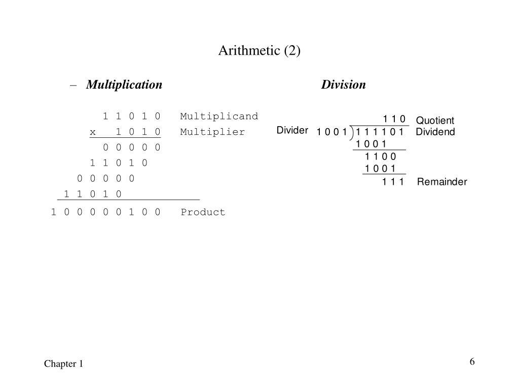 Arithmetic (2)