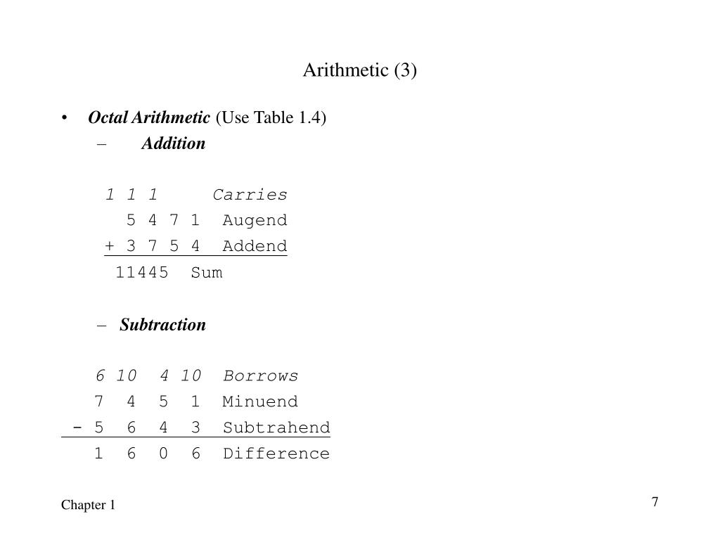 Arithmetic (3)
