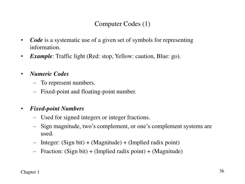 Computer Codes (1)