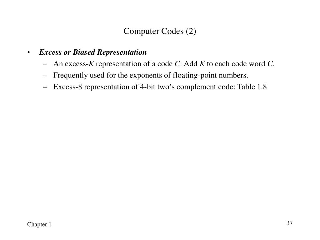 Computer Codes (2)